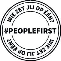 Logo People First Wie Zet JIj op Een