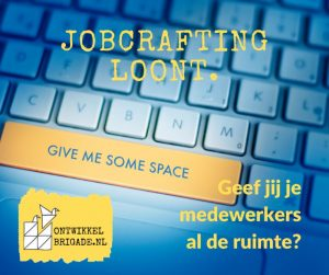 Jobcrafting loont give me some space
