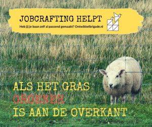als het gras groener is aan de overkant jobcrafting helpt ontwikkelbrigade