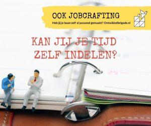kan jij je tijd zelf indelen - ook jobcrafting ontwikkelbrigade