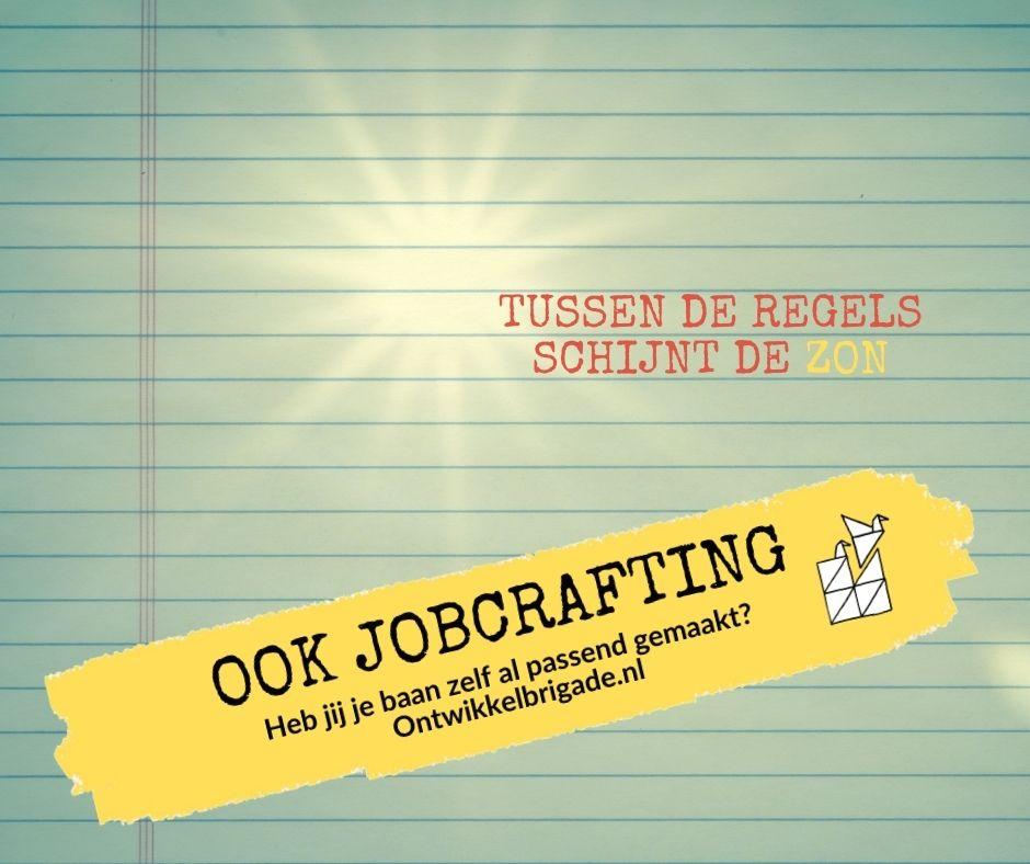 tussen de regels schijnt de zon - ook jobcrafting