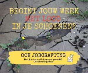 begint jouw week met lood in je schoenen - ook jobcrafting
