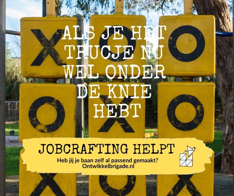 Als je het trucje nu wel onder de knie hebt - ook jobcrafting