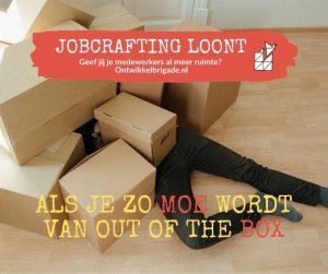 als je zo moe wordt van out of the box - ook jobcrafting