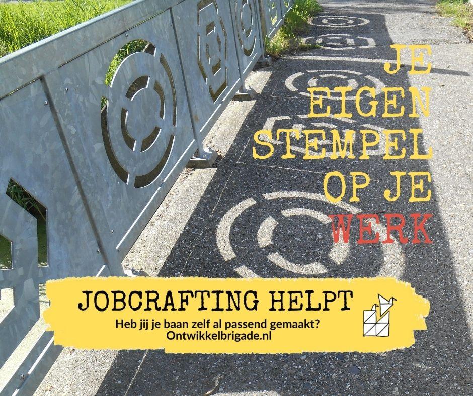 je eigen stempel op je werk - jobcrafting ontwikkelbrigade