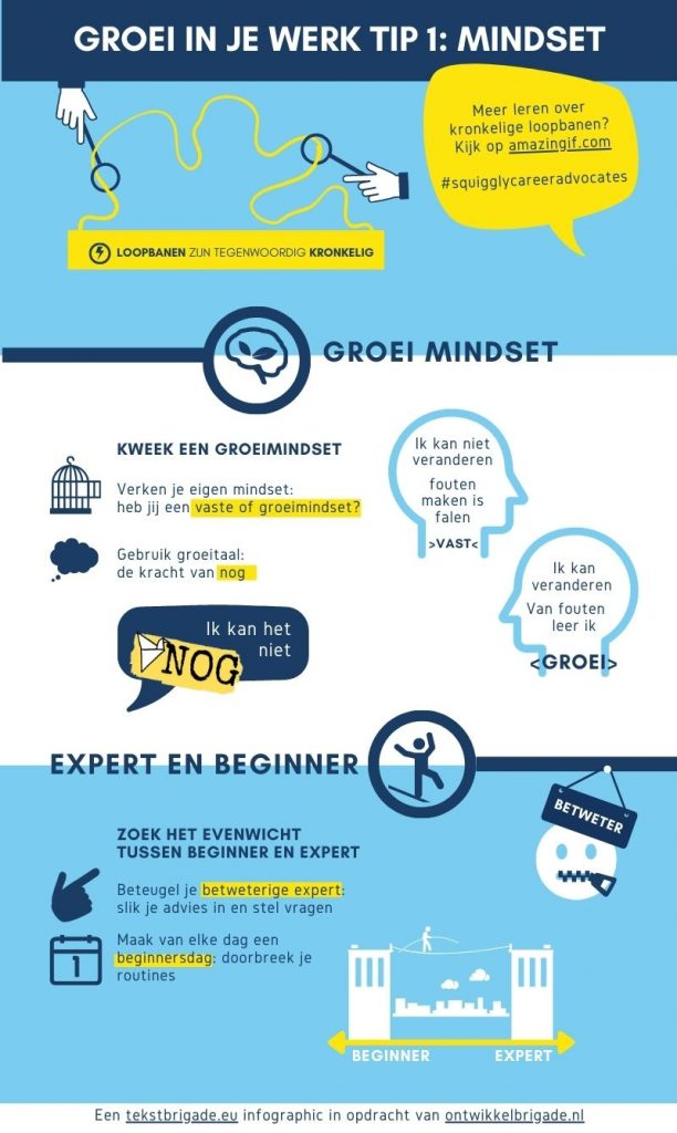 Groei in je werk tip 1 mindset